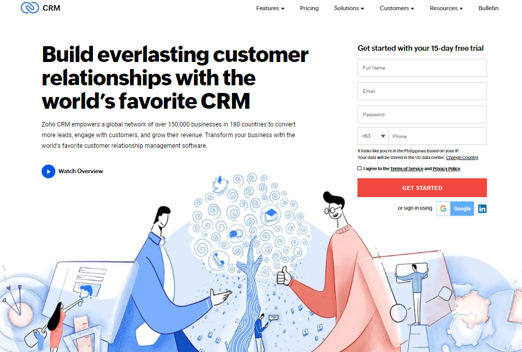 20 CRM Tools for Small Businesses, Zoho CRM, Softvire Australia
