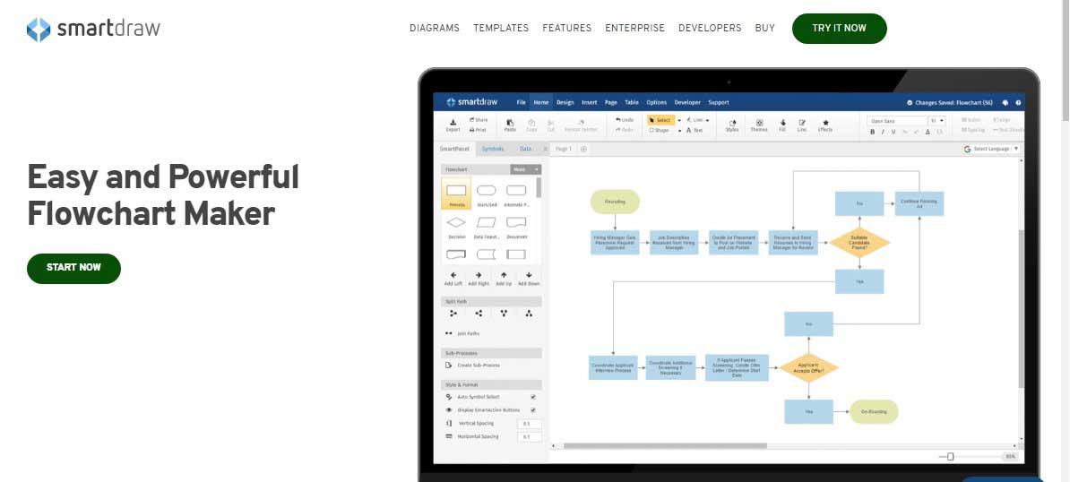 smartdraw diagramming tool